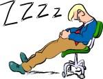 """M.Clipart : """"Réveillez-moi s'il se passe un truc""""."""