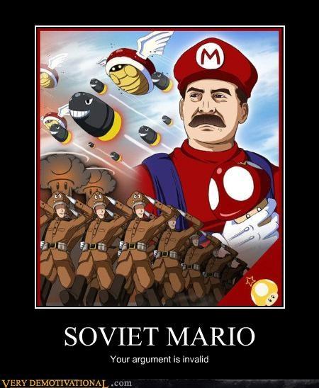 Mario World : Aucune démocratie, et tout problème sera réglé par l'envoi d'un commando de la mort de la nomenklatura.